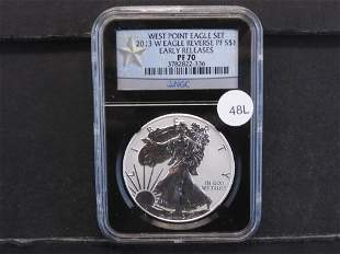 2013- W American Silver Eagle Reverse Proof PF 70 NGC