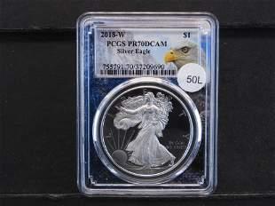 2018-W American Silver Eagle PCGS PR70 DCAM