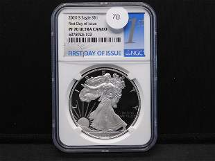 2020-S American Silver Eagle First Day of Issue PF 70