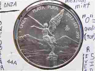 2013 Mexican Dollar 1 ounce .999 Silver