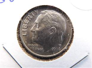 Scarce 1996-W Roosevelt Dime. Only released in the