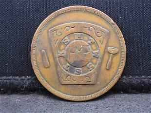 Masonic Penny from Spartanburg SC.