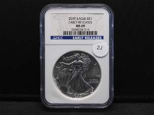 2009 $1 Eagle Early Releases NGC graded MS69