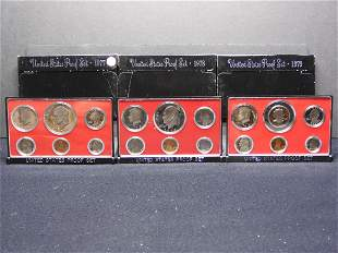 1977-S 1978-S 1979 United States 6-Coin Proof Sets With