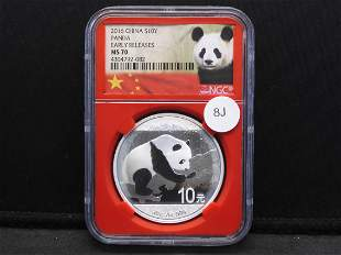 2016 $10 China Panda Silver Early Releases NGC graded