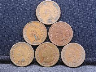 1881 1882 1883 1884 1885 1886 Indian Head Cents.