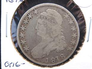 1818 Capped Bust Half. VG 10. Nice original early