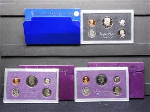 1983-S 1984-S 1985-S US Mint 5-Coin Proof Sets