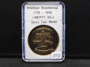 American Bicentennial Liberty Bell Bronze Coin Medal