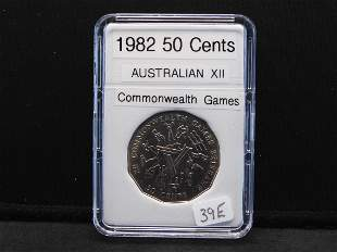 1982 Australian XII 50 Cents Commemorative Games Coin