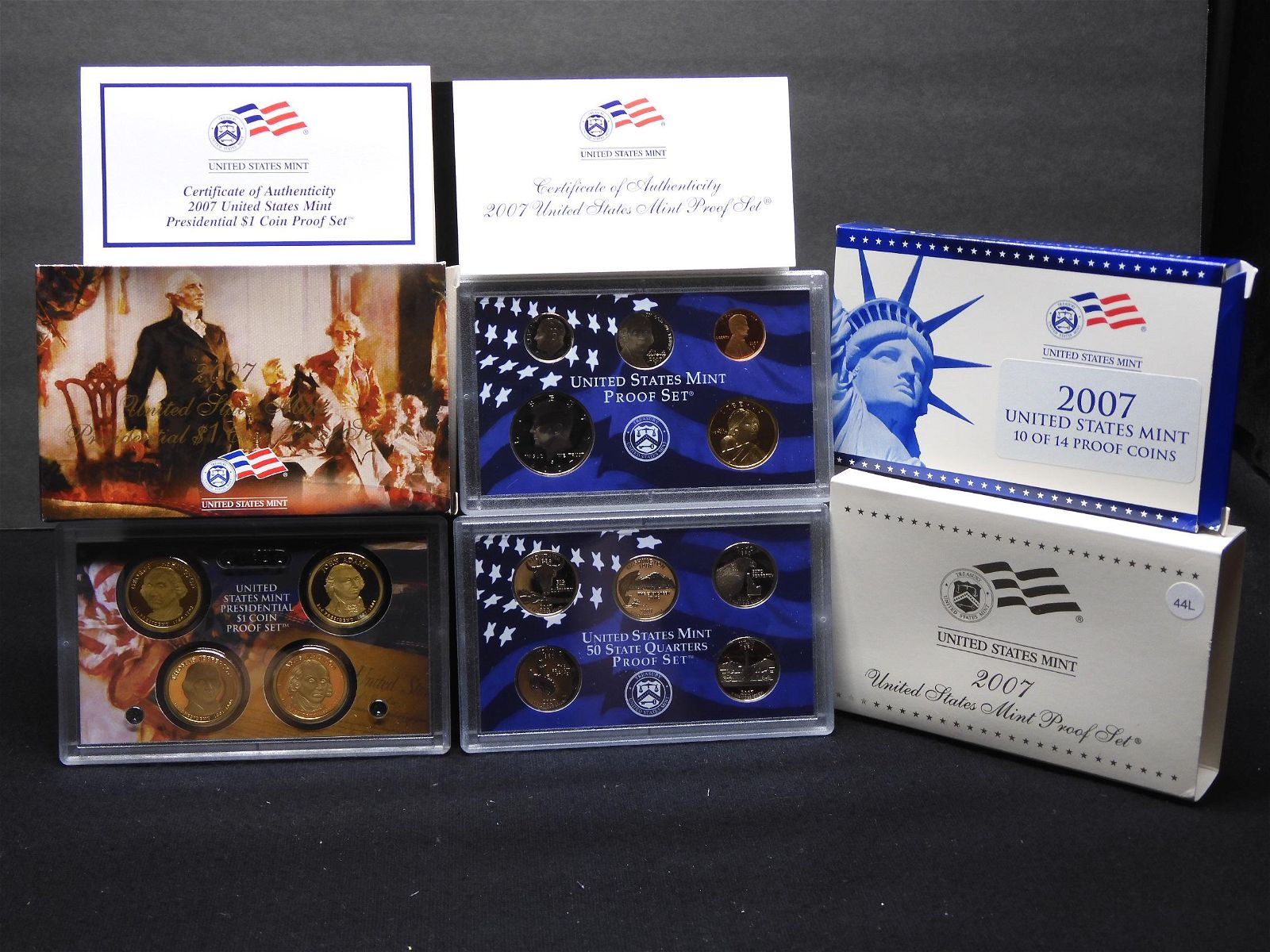 2007-S United States 14-Coin Proof Set With Original
