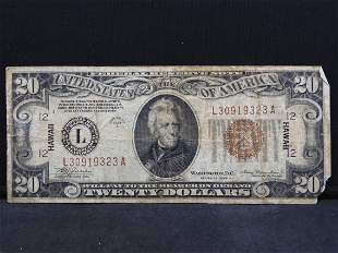 Series 1934-A U.S. $20 Federal Reserve Note of San
