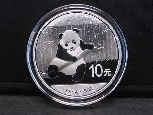 2014 China Panda 1 Oz. Silver Round - Bright & Nice