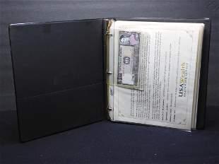 USA Wealth Management World Bank Note Binder High Grade