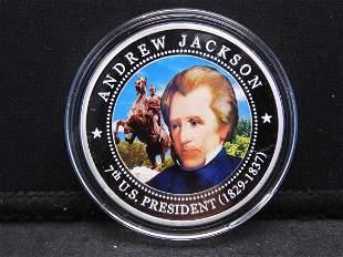 2010 Republic of Liberia $5 - Andrew Jackson 7th U.S.