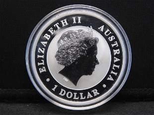 2012 Australian Kookaburra 1 Oz. .999 Silver $1.00