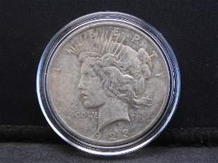 1923 Peace Silver Dollar - Good Detail!