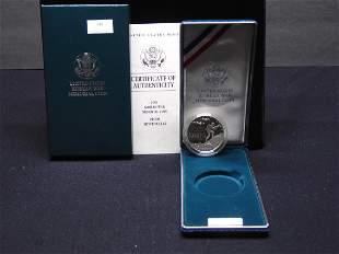 1991 U.S. Korean War Memorial Proof Silver Dollar OGP