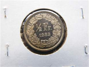1983 SWITZERLAND 1/2 FRANC