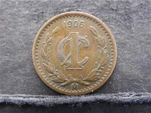 1906 M Mexico One Centavo