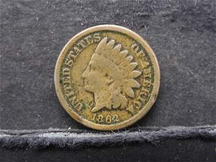 1862 Copper Nickel Indian Cent