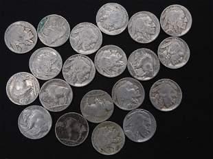 20-1937-D Buffalo Nickels