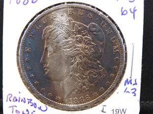 1886-O Morgan Dollar - Toning