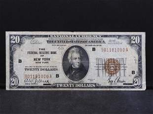 $20 Series of 1929 National Currency Federal Reserve