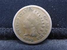 1863-CN Indian Head Cent. Civil War Year.