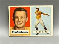 1957 Topps Norm Van Brocklin #22 HOF