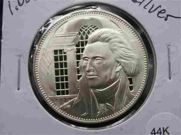 Thomas Jefferson Lawyer- Virginia 1.02 Ounce Sterling
