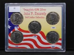 1965-1969 Complete 40% Silver John F. Kennedy Half