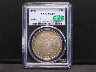 1903 Morgan Silver Dollar. PCGS/CAC MS66 **RARE IN