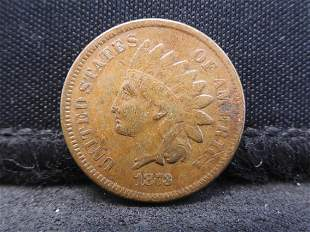 1873 Indian Head Cent - VF+ Condition & Tough Date!