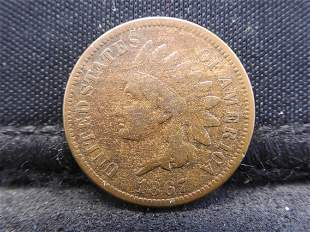 1867 Indian Head Cent. VF