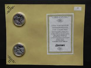 Civil War Battles Comm. Coin Collection on a Nice