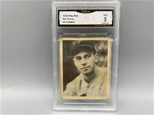 1939 Play Ball Del Young RC #33 GMA 3