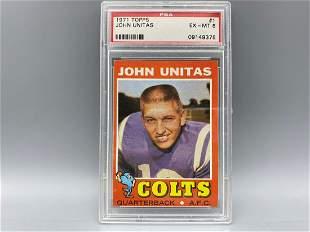 1971 Topps Johnny Unitas #1 PSA 6
