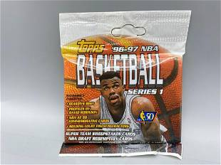 1996-97 Topps Basketball Series 1 Unopened Cello Pack -