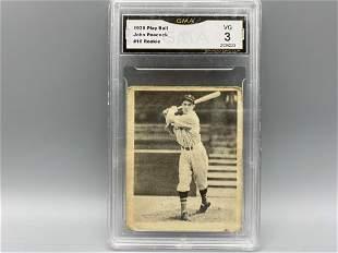 1939 Play Ball John Peacock RC #16 GMA 3
