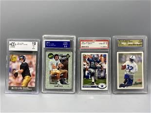 Lot of 4 Graded Football Cards - 1991 Ultra Brett Favre
