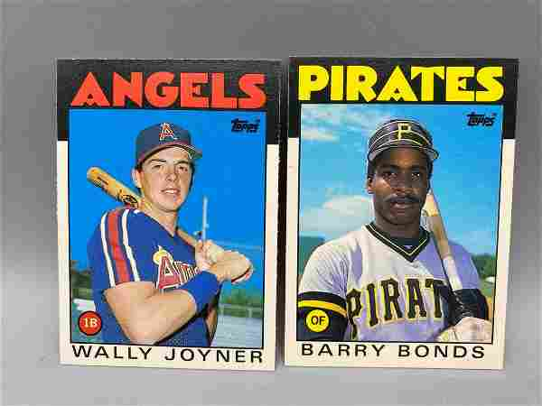 1986 Topps Traded Barry Bonds & Wally Joyner Rookies