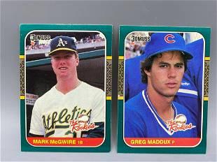 1987 Donruss Rookies Mark McGwire & Greg Maddux