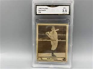 1940 Play Ball Earl Averill #46 GMA 3.5