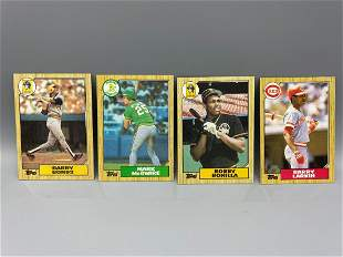 1987 Topps Lot of 4 Rookies - Barry Bonds, Mark