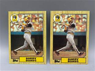 1987 Topps Barry Bonds Rookie #320 Lot of 2