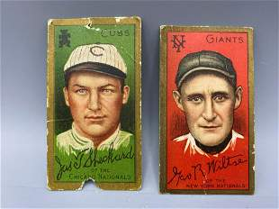 1911 T205 Gold Border Lot of 2 - James Sheckard &