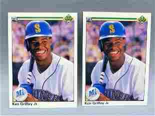 1990 Upper Deck Ken Griffey Jr #156 Lot of 2