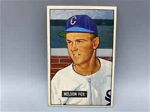 1951 Bowman Nellie Fox Rookie Card #232