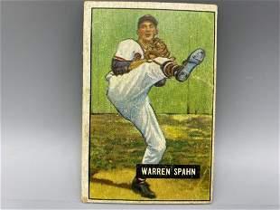 1951 Bowman Warren Spahn #134
